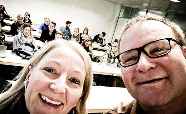Meike Hohenbrink und Detlef Heese, Dozenten an der Hochschule Osnabrück, Blockwoche