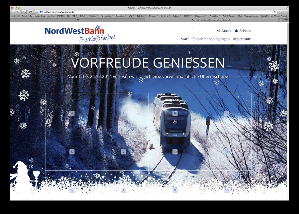 Lint-Triebwagen der NordWestBahn im Schnee